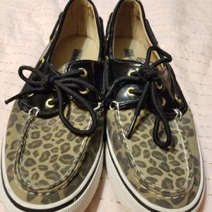 Tiger Print Sperry Topsider | 8.5